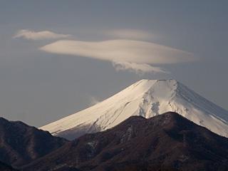 2012年2月10日の富士山写真