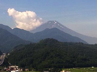 2012年7月19日の富士山写真