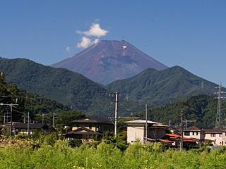 2012年8月21日の富士山写真