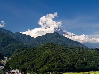2012年8月23日の富士山写真