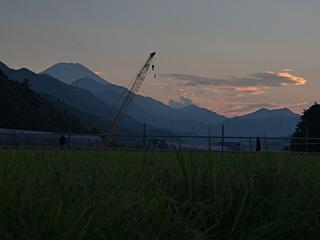 2012年9月4日の富士山写真