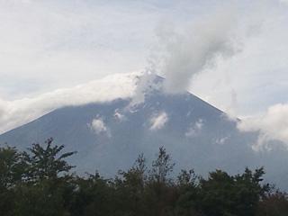2012年9月30日の富士山写真
