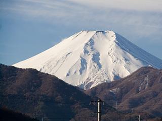 2013年2月5日の富士山写真