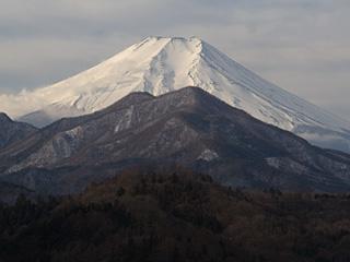 2013年2月8日の富士山写真