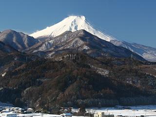 2013年2月13日の富士山写真