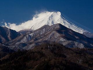 2013年2月16日の富士山写真