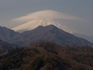 2013年3月13日の富士山写真