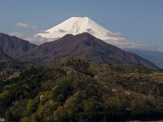 2013年4月13日の富士山写真