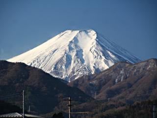 2014年1月29日の富士山写真