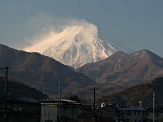 2014年1月31日の富士山写真