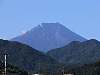2014年9月2日の富士山写真
