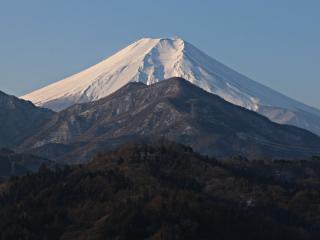 2015年1月25日の富士山写真