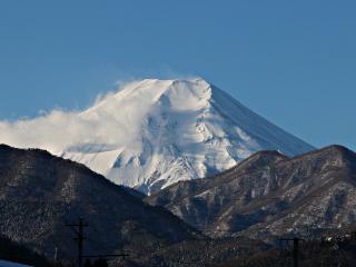 2015年1月31日の富士山写真