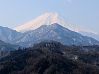 2015年2月15日の富士山写真