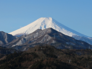 2015年2月20日の富士山写真