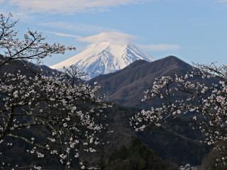 2015年4月6日の富士山写真