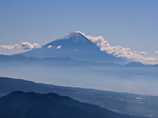 2015年10月18日の富士山写真