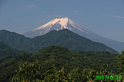 2017年6月10日の富士山写真