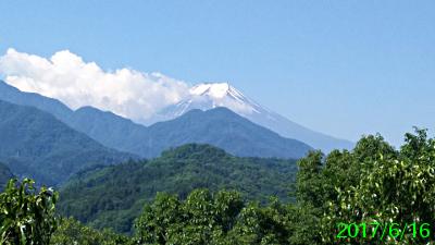 2017年6月16日の富士山写真