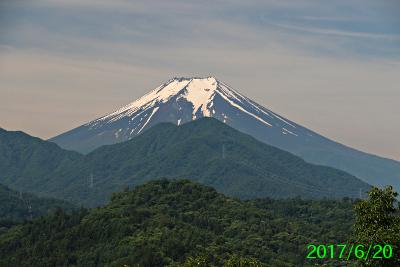 2017年6月20日の富士山写真