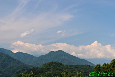 2017年6月23日の富士山写真