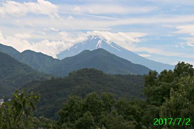 2017年7月2日の富士山写真
