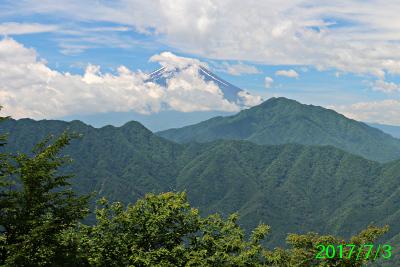 2017年7月3日の富士山写真