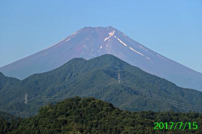 2017年7月15日の富士山写真