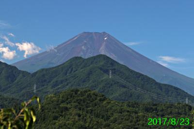 2017年8月23日の富士山写真