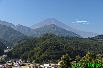 2017年10月10日の富士山写真