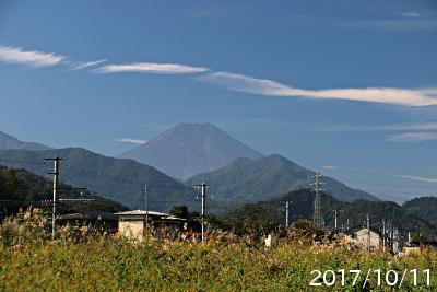 2017年10月11日の富士山写真
