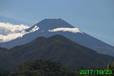 2017年10月23日の富士山写真