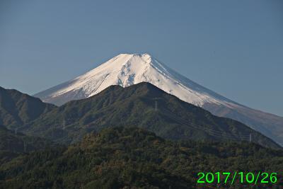 2017年10月26日の富士山写真