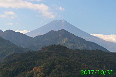 2017年10月31日の富士山写真
