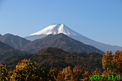 2017年11月9日の富士山写真