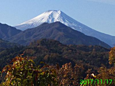 2017年11月17日の富士山写真