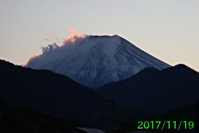 2017年11月19日の富士山写真