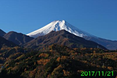 2017年11月21日の富士山写真