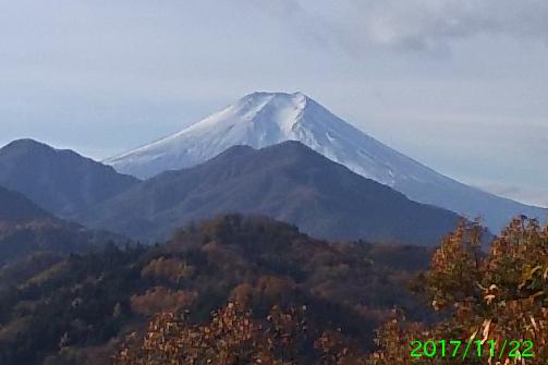 2017年11月22日の富士山写真