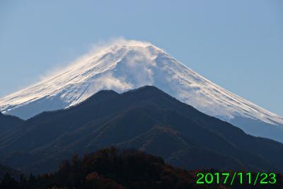2017年11月23日の富士山写真