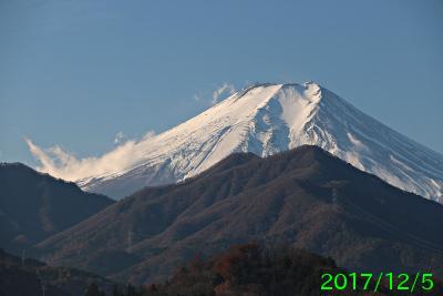 2017年12月5日の富士山写真