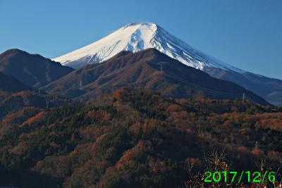 2017年12月6日の富士山写真