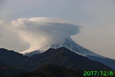 2017年12月8日の富士山写真