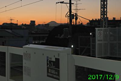 2017年12月9日の富士山写真