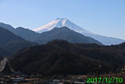 2017年12月10日の富士山写真