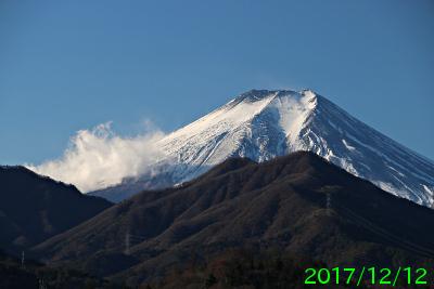 2017年12月12日の富士山写真