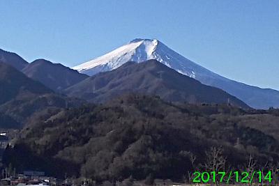 2017年12月14日の富士山写真