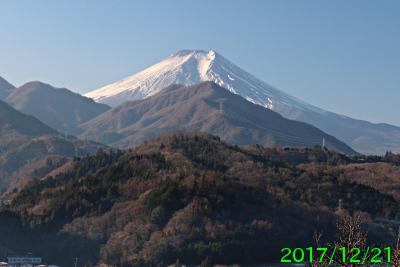 2017年12月21日の富士山写真