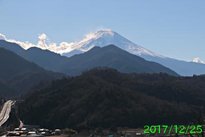 2017年12月25日の富士山写真