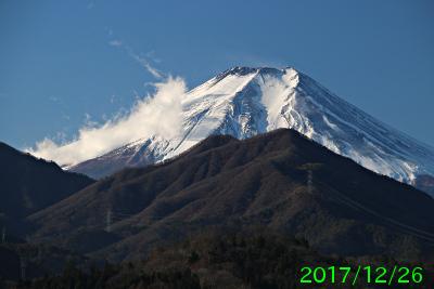 2017年12月26日の富士山写真